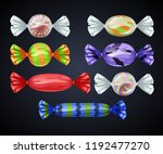 set of candies in transparent... | Shutterstock .eps vector #1192477270