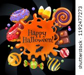 halloween sweets colorful party ... | Shutterstock .eps vector #1192477273