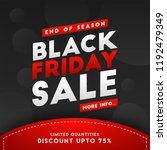end of season  black friday...   Shutterstock .eps vector #1192479349