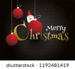 merry christmas celebration... | Shutterstock .eps vector #1192481419