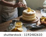 layered cake food photography... | Shutterstock . vector #1192482610