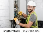 Smiling Handsome Electrician...
