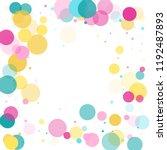 memphis round confetti creative ... | Shutterstock .eps vector #1192487893