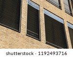 window with modern blind ... | Shutterstock . vector #1192493716