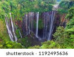 majestic view of tumpak sewu... | Shutterstock . vector #1192495636