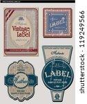 vintage label set   Shutterstock .eps vector #119249566