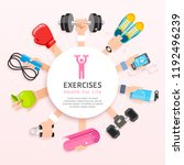 exercises conceptual design.... | Shutterstock .eps vector #1192496239