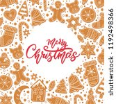 background merry christmas. set ... | Shutterstock .eps vector #1192498366