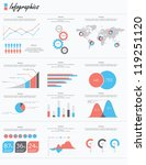 set elements of infographics | Shutterstock .eps vector #119251120