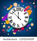 blue 2019 new year background... | Shutterstock .eps vector #1192514539