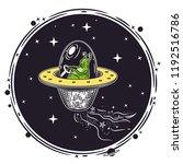 vector image of an alien in a... | Shutterstock .eps vector #1192516786