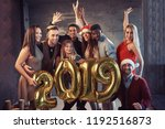 new 2019 year is coming  group... | Shutterstock . vector #1192516873