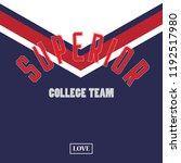 new york varsity slogan graphic.... | Shutterstock .eps vector #1192517980