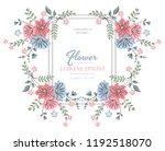 vector flower design. colorful...   Shutterstock .eps vector #1192518070