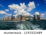 lower manhattan  new york city  ... | Shutterstock . vector #1192522489