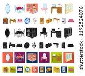furniture and interior cartoon... | Shutterstock .eps vector #1192524076