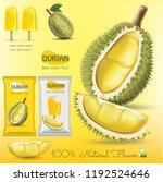 durian fruit package ice cream   Shutterstock .eps vector #1192524646