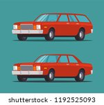 red car in different bodies....   Shutterstock .eps vector #1192525093