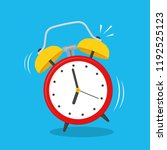 alarm clock  wake up icon. flat ...   Shutterstock .eps vector #1192525123