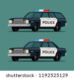 police car in different bodies. ... | Shutterstock .eps vector #1192525129
