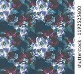 watercolor flower seamless... | Shutterstock . vector #1192525600