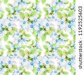 watercolor flower seamless... | Shutterstock . vector #1192525603