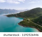 aerial view of a road in... | Shutterstock . vector #1192526446