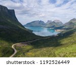 aerial view of a curvy road in... | Shutterstock . vector #1192526449