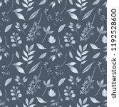 watercolor flower seamless... | Shutterstock . vector #1192528600