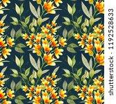 watercolor flower seamless... | Shutterstock . vector #1192528633