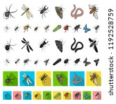 different kinds of insects... | Shutterstock .eps vector #1192528759