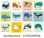 vector illustration cards with... | Shutterstock .eps vector #1192529926