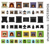 different kinds of fireplaces... | Shutterstock .eps vector #1192530436