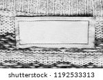 blank textile clothes label on...   Shutterstock . vector #1192533313
