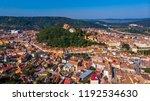 drone view of sighisoara... | Shutterstock . vector #1192534630