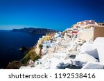 oia town on santorini island ... | Shutterstock . vector #1192538416