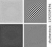 geometric patterns set. 3d... | Shutterstock .eps vector #1192539196