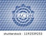beacon blue emblem or badge... | Shutterstock .eps vector #1192539253