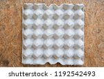 paper tray for egg  close up...   Shutterstock . vector #1192542493