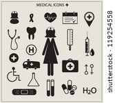 medical icons vector... | Shutterstock .eps vector #119254558