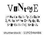 vintage   vector hand drawn... | Shutterstock .eps vector #1192546486