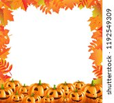 autumn discount halloween... | Shutterstock . vector #1192549309