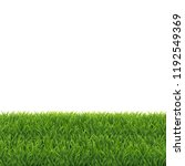 green grass white background | Shutterstock . vector #1192549369