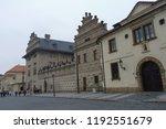 prague building and street ... | Shutterstock . vector #1192551679