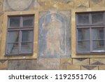 prague building and street ... | Shutterstock . vector #1192551706