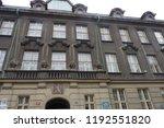 prague building and street ... | Shutterstock . vector #1192551820
