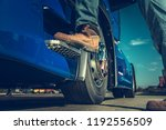 truck driver concept. driver... | Shutterstock . vector #1192556509
