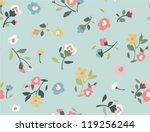 seamless tiny floral pattern on ... | Shutterstock .eps vector #119256244
