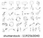 vector arrow of love  sketch.... | Shutterstock .eps vector #1192563040