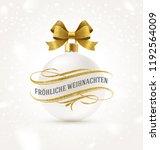 fr hliche weihnachten  ... | Shutterstock .eps vector #1192564009